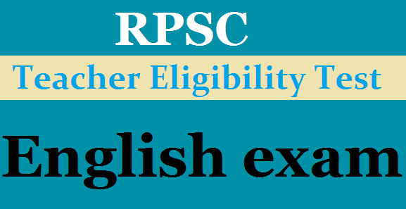 RPSC English Lecturer exam